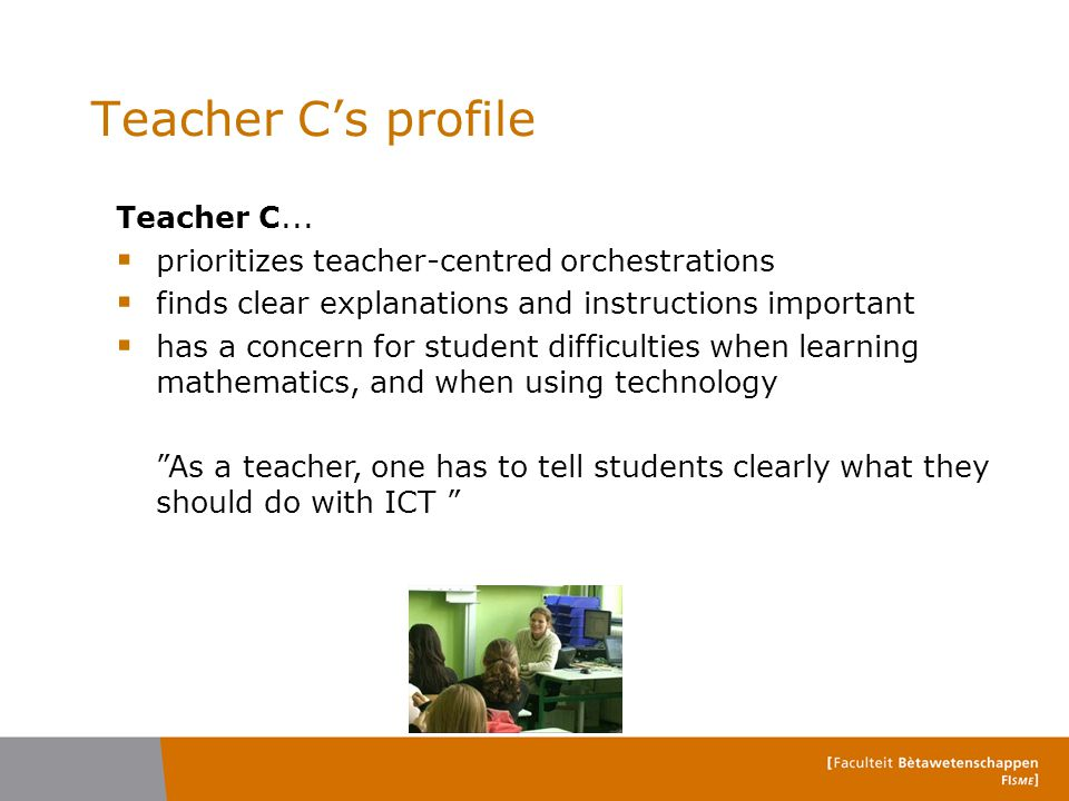 Teacher C's profile Teacher C...