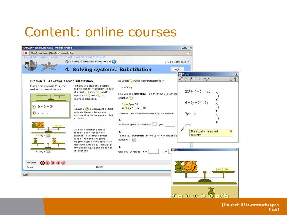 Content: online courses