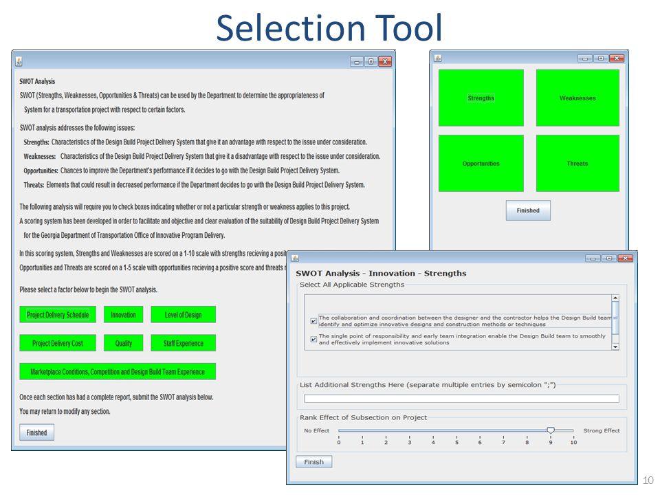 10 Selection Tool