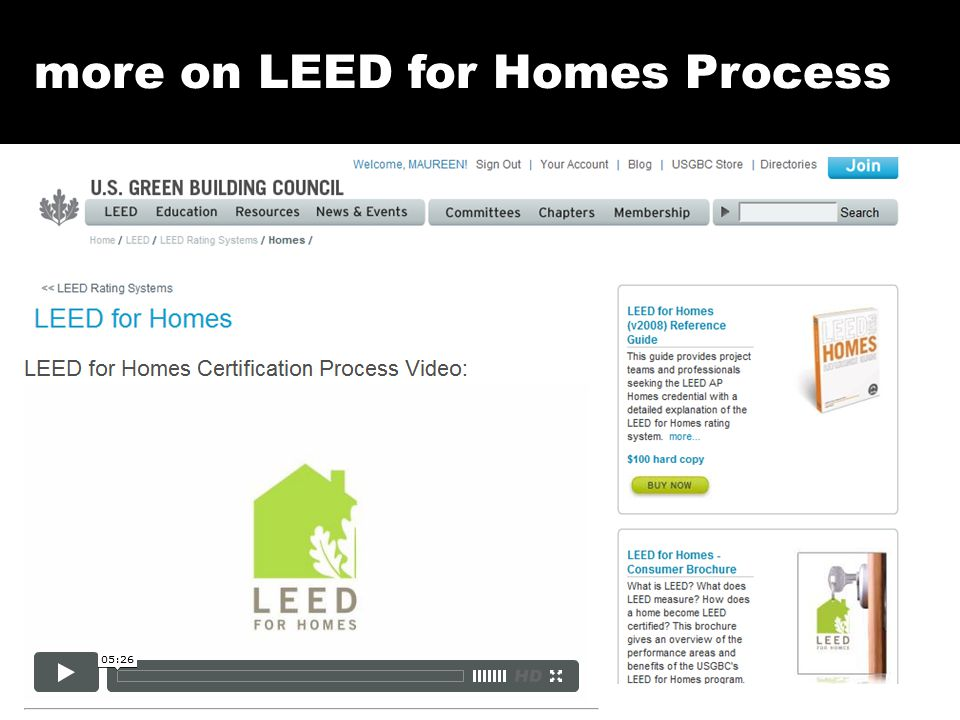 more on LEED for Homes Process
