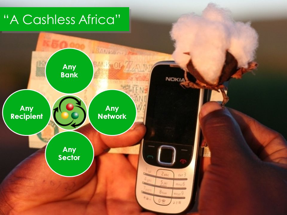 Any Bank Any Network Any Sector Any Recipient A Cashless Africa