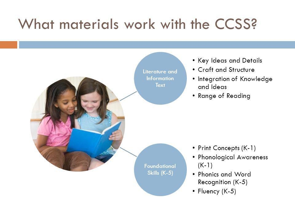 What materials work with the CCSS.