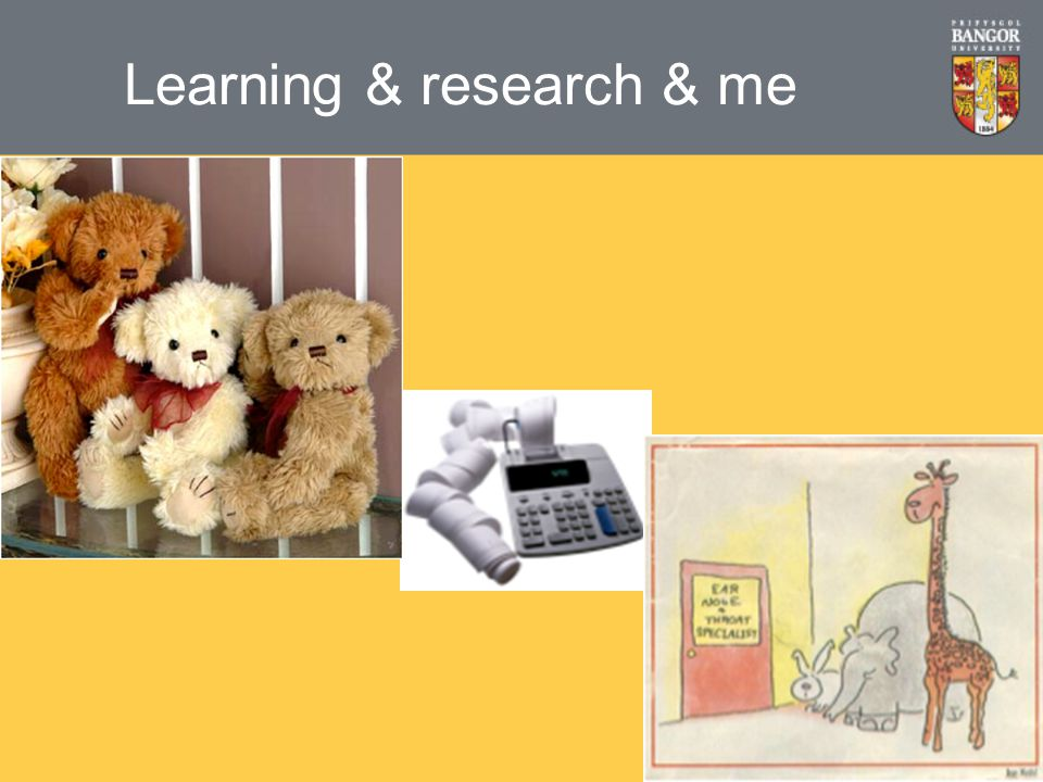 Learning & research & me