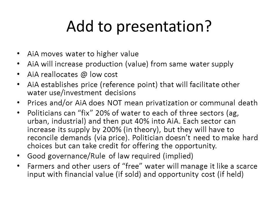 Add to presentation.