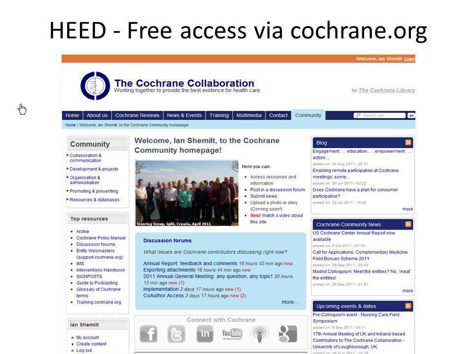 HEED - Free access via cochrane.org