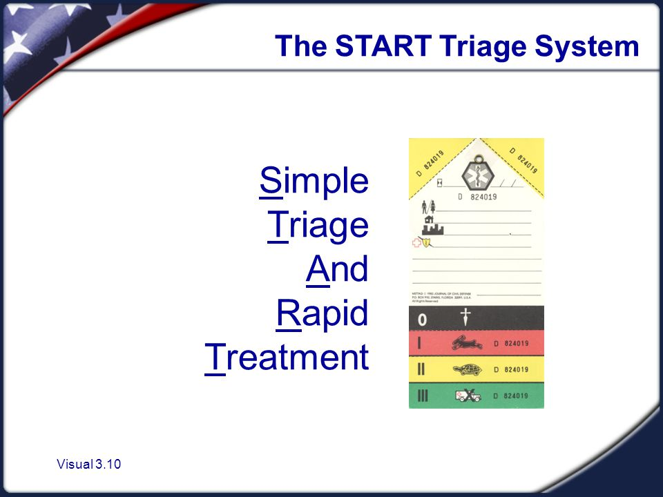 Visual 3.10 The START Triage System Simple Triage And Rapid Treatment