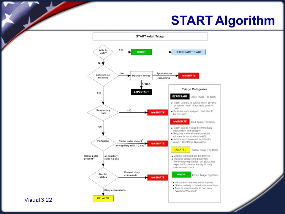 Visual 3.22 START Algorithm