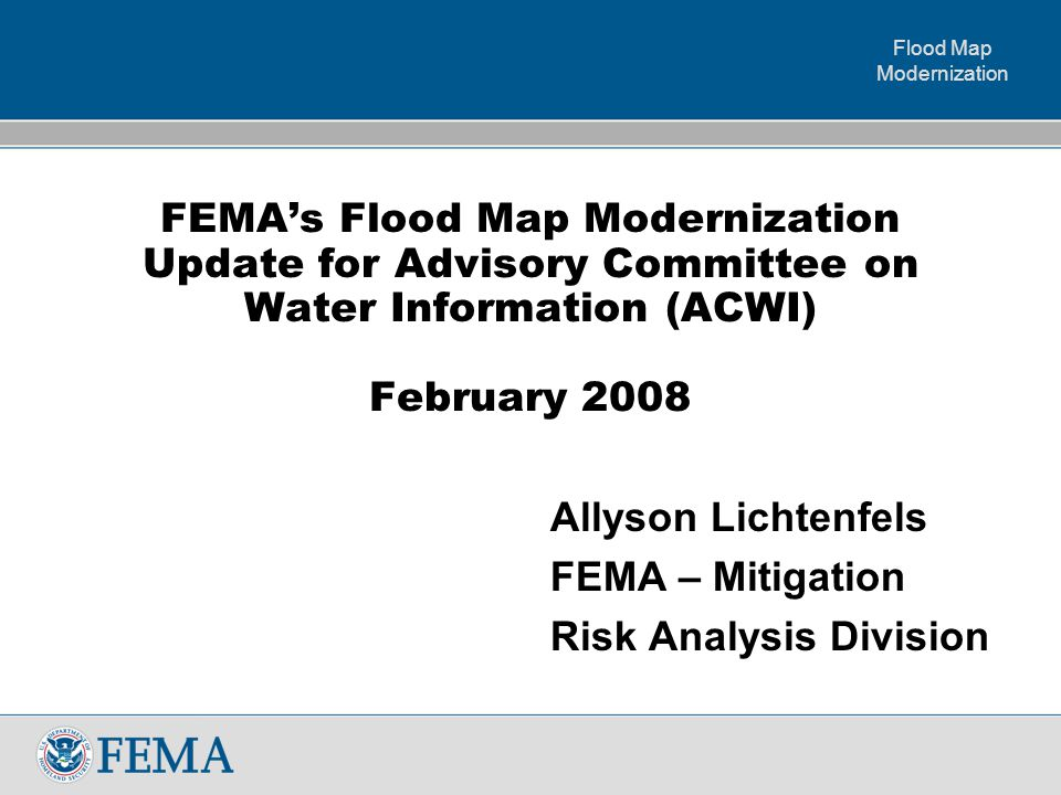 Flood Map Modernization 11 Levee Assessment Nationwide and Outreach  Continuing Coordination with the USACE  Continuing to work with communities and levee owners to assess levees as part of the mapping efforts  Furthering Levee Stakeholder Education Efforts http://www.fema.gov/plan/prevent/fhm/lv_intro.shtm