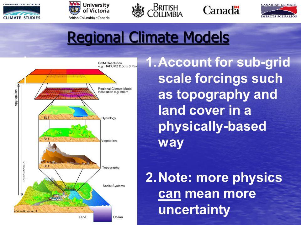 Regional Climate Models 1.