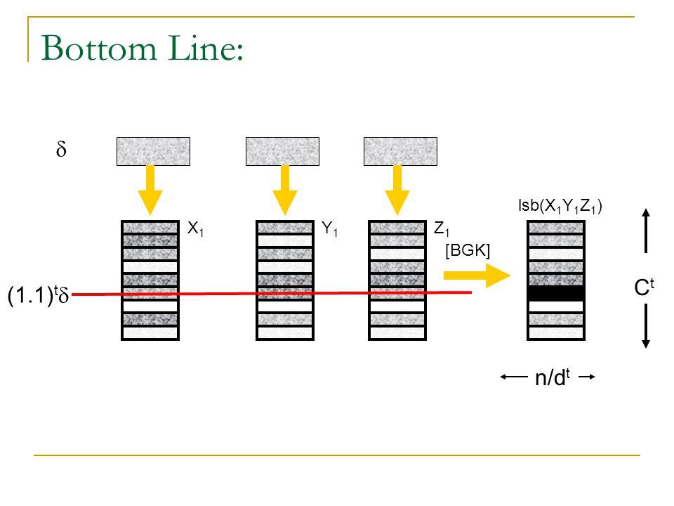 Bottom Line: (1.1) t  CtCt  [BGK] X1X1 Y1Y1 Z1Z1 lsb(X 1 Y 1 Z 1 ) n/d t