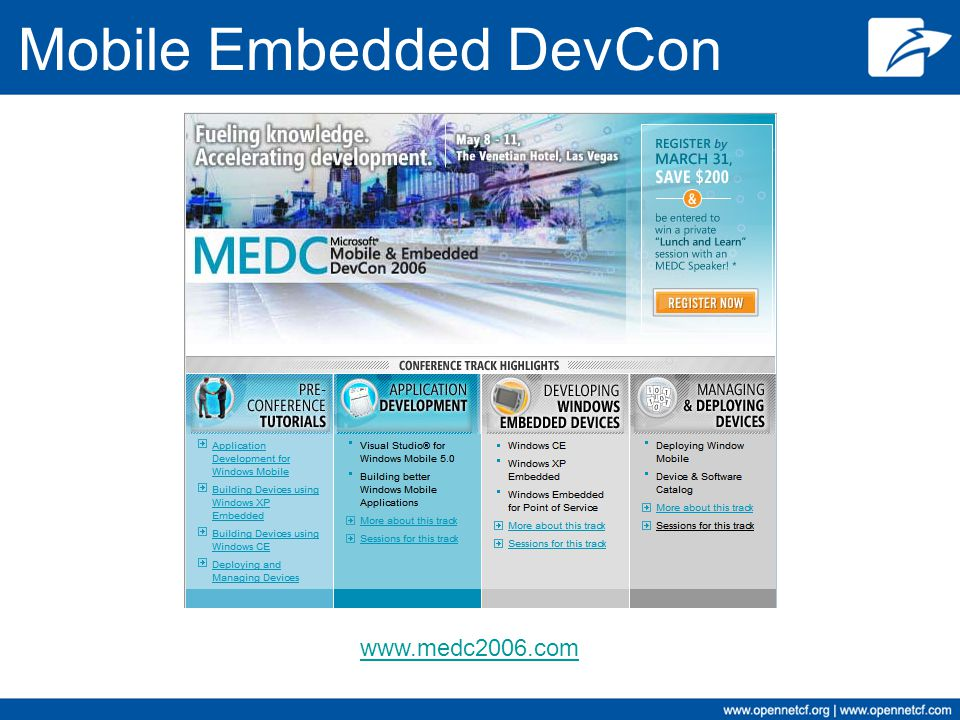 Mobile Embedded DevCon www.medc2006.com
