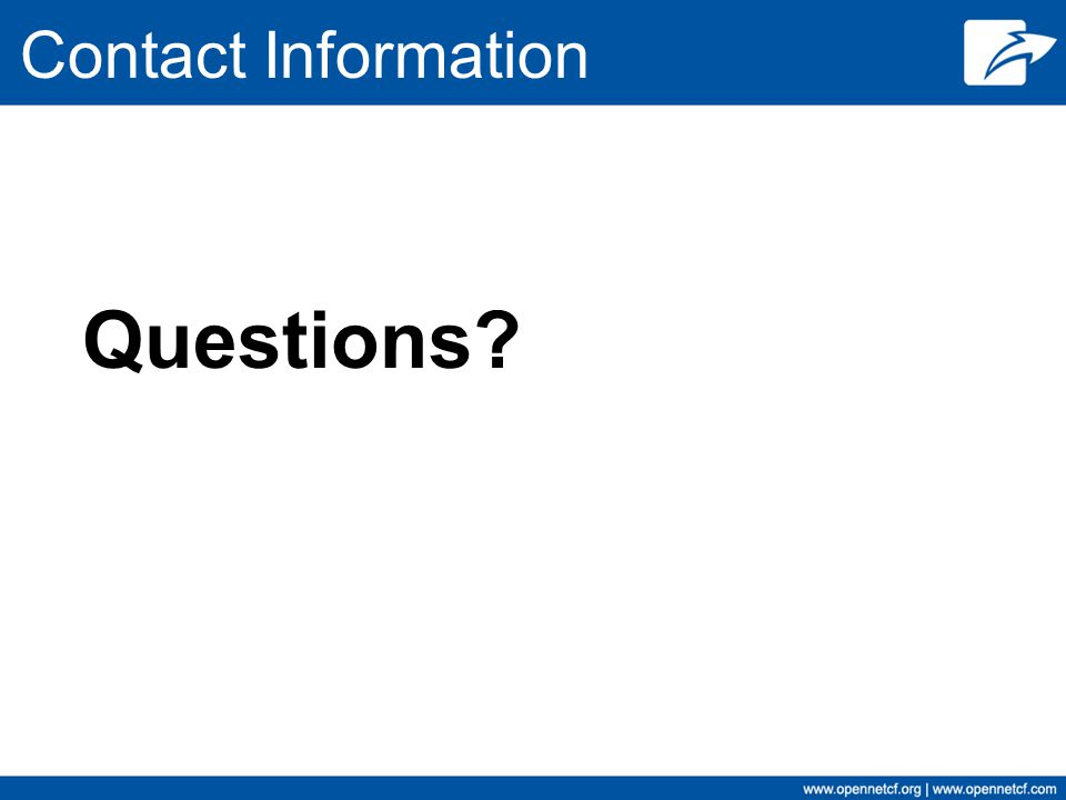 Contact Information Questions?