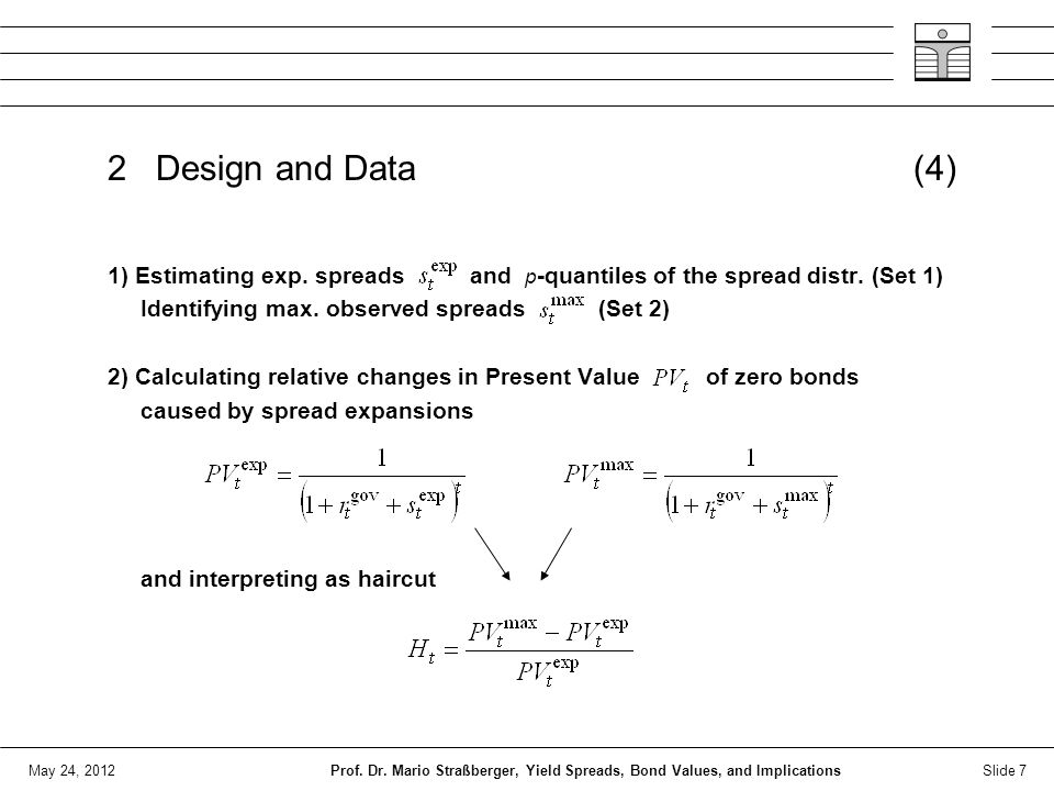 May 24, 2012 2 Design and Data (4) 1) Estimating exp.