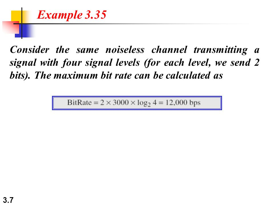 3.8 We need to send 265 kbps over a noiseless channel with a bandwidth of 20 kHz.