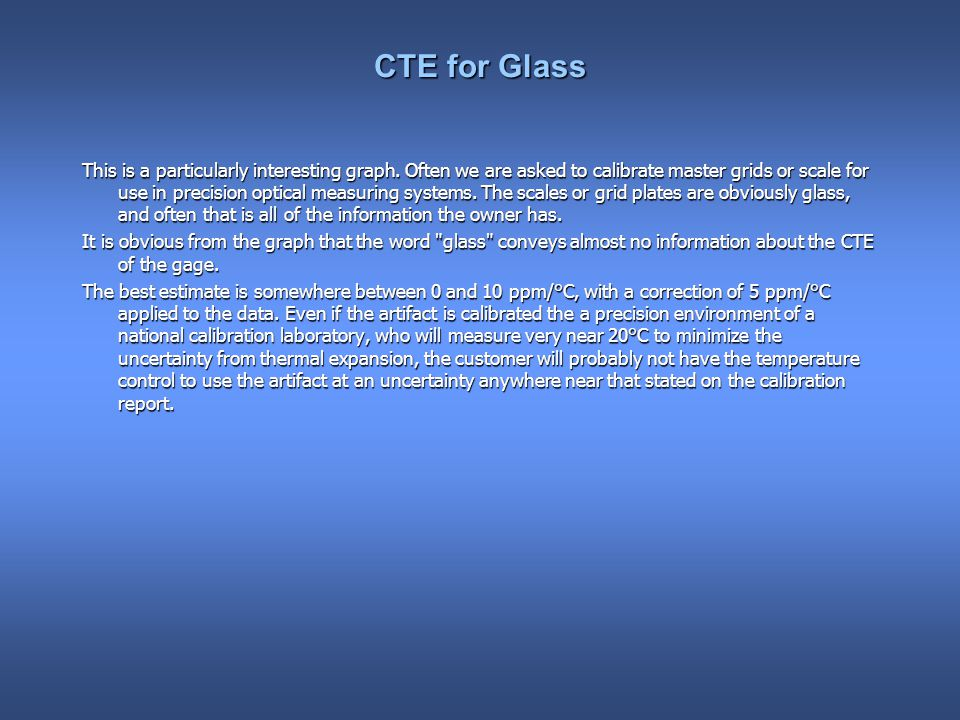CTE for Glass This is a particularly interesting graph.