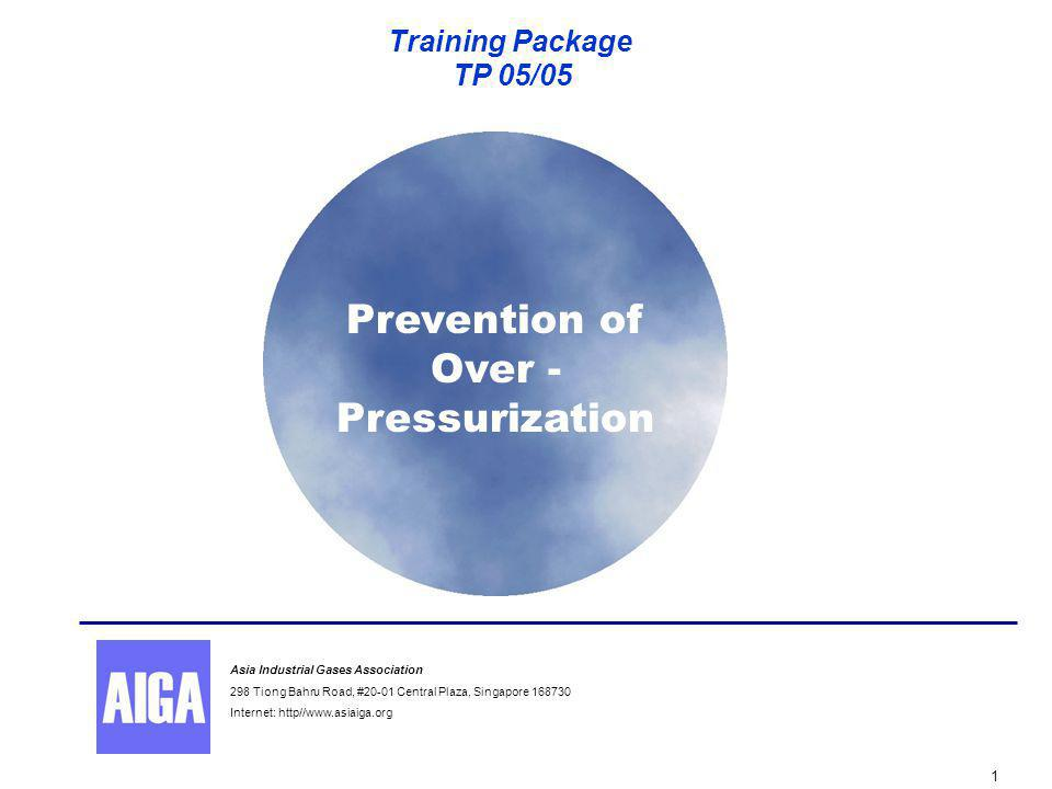 Over-Pressurization 2 Prevention of Over - Pressurization Disclaimer All publications of AIGA or bearing AIGA's name contain information, including Codes of Practice, safety procedures and other technical information that were obtained from sources believed by AIGA to be reliable and/ or based on technical information and experience currently available from members of AIGA and others at the date of the publication.