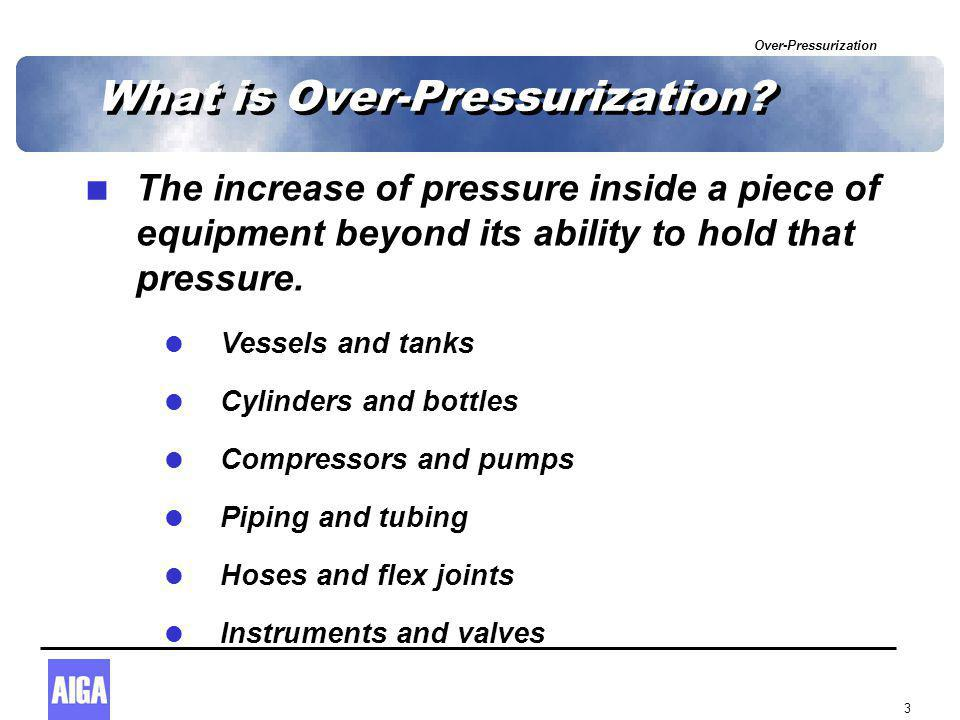 Over-Pressurization 3 What is Over-Pressurization.
