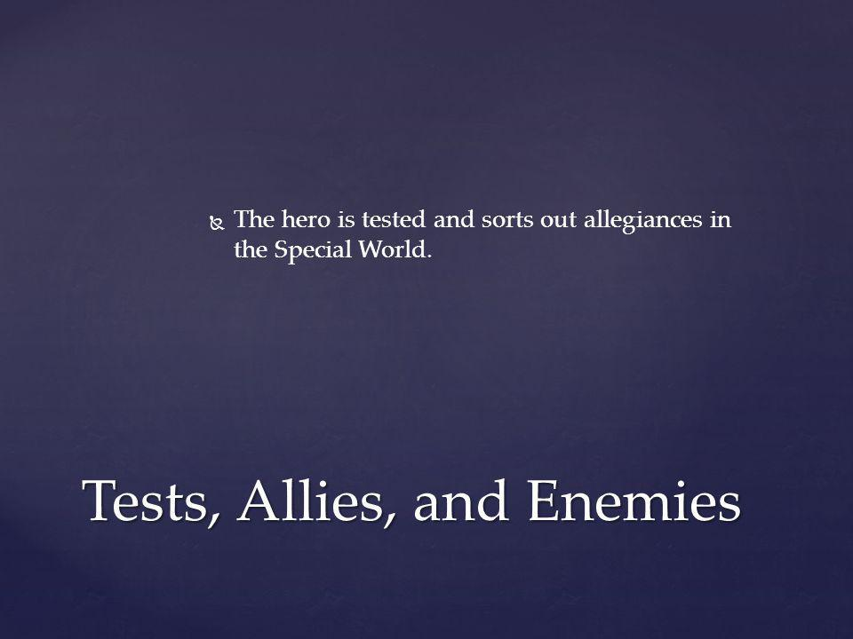   The hero is tested and sorts out allegiances in the Special World. Tests, Allies, and Enemies