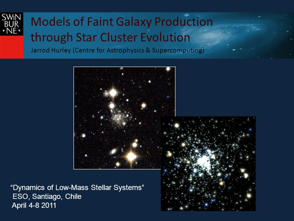 Models of Faint Galaxy Production through Star Cluster Evolution Sizes of low-mass stellar systems Huxor+11