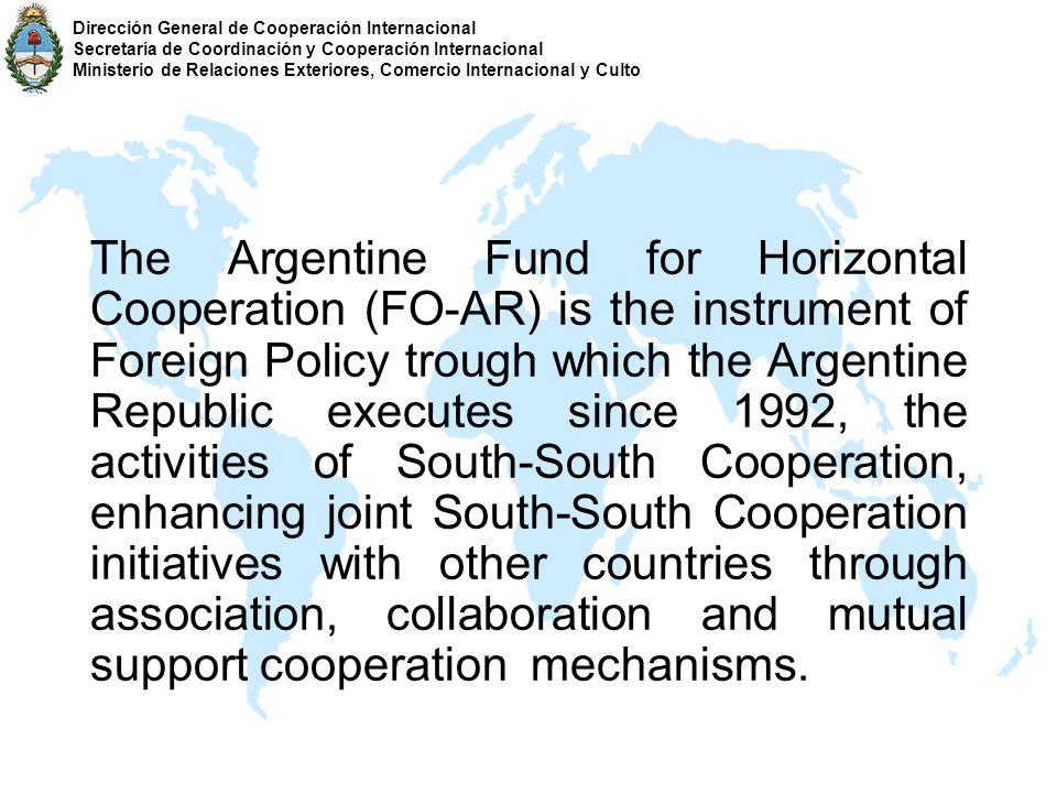 Triangular Cooperation Dirección General de Cooperación Internacional Secretaría de Coordinación y Cooperación Internacional Ministerio de Relaciones Exteriores, Comercio Internacional y Culto