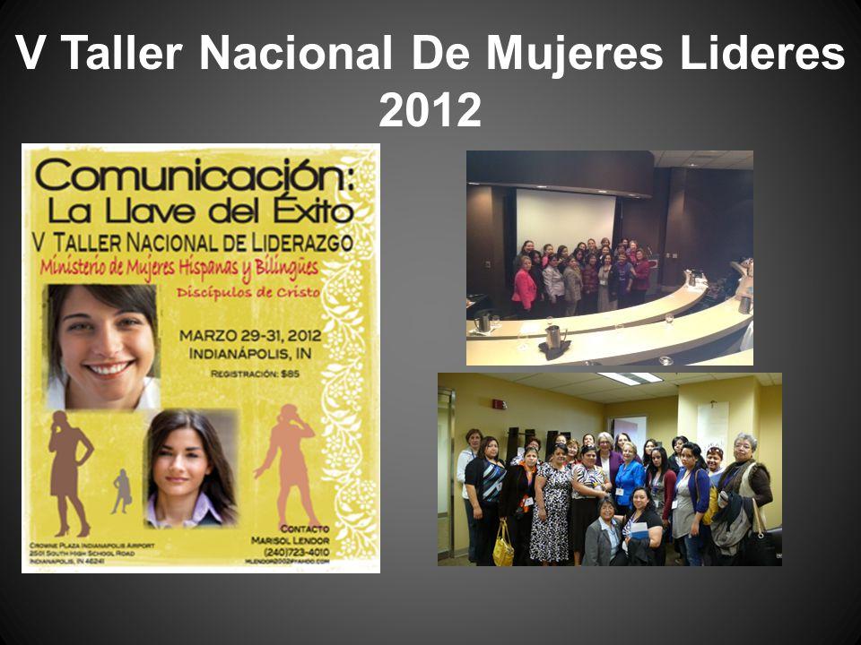 V Taller Nacional De Mujeres Lideres 2012