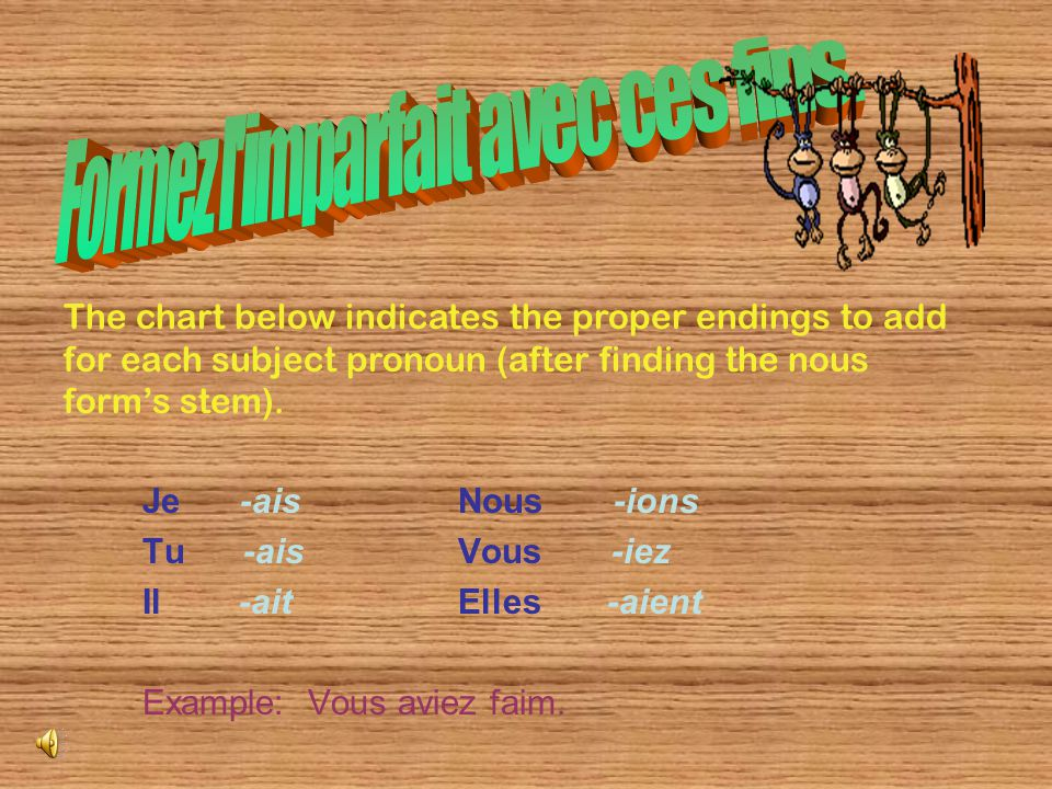 The imparfait consists of one word, unlike the passé composé's two word formation.