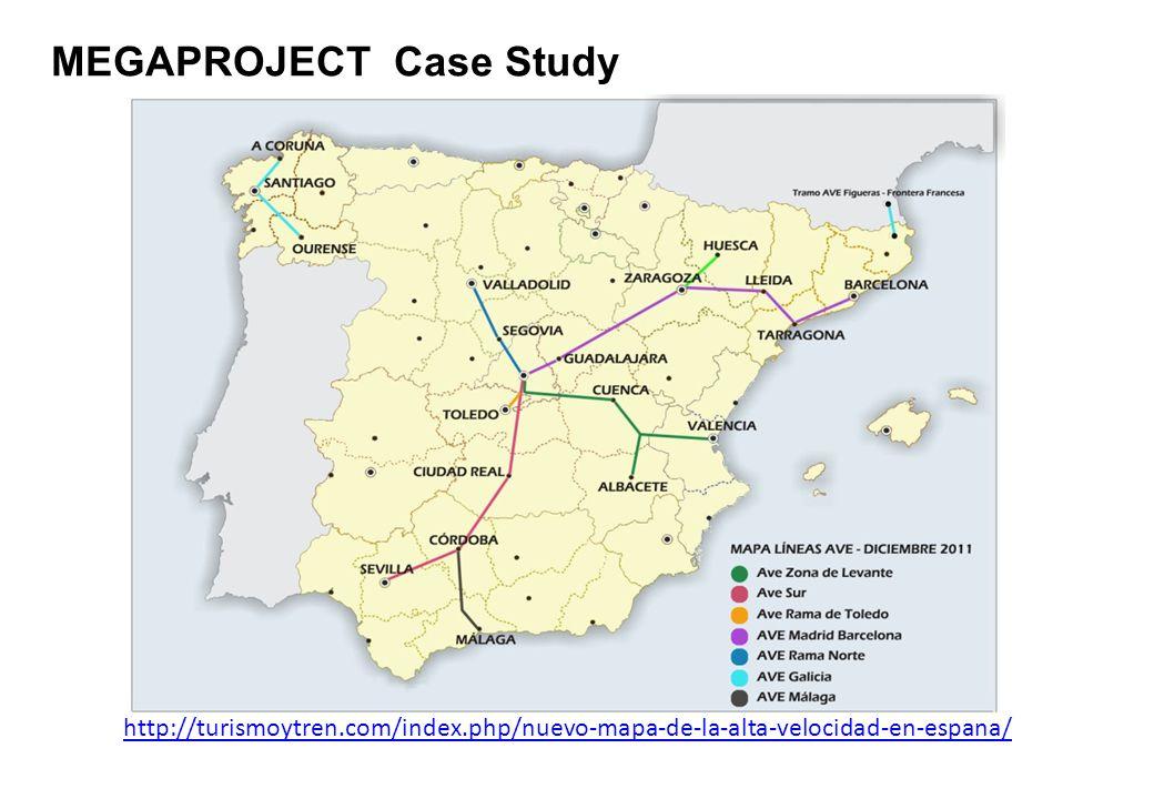 http://turismoytren.com/index.php/nuevo-mapa-de-la-alta-velocidad-en-espana/ MEGAPROJECT Case Study
