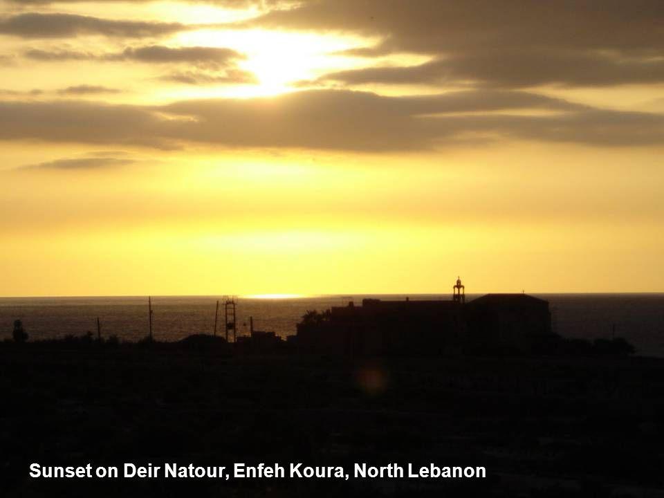 Sunset on Deir Natour, Enfeh Koura, North Lebanon