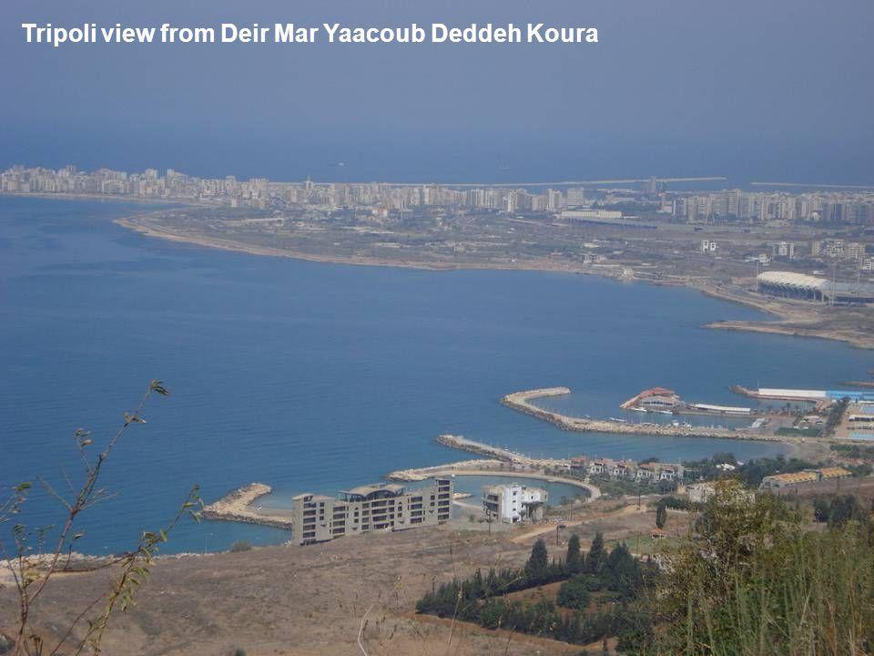 Tripoli view from Deir Mar Yaacoub Deddeh Koura