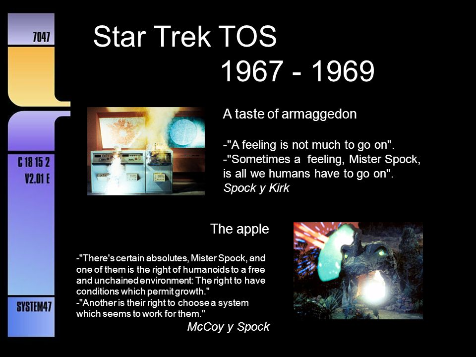 Star Trek TOS 1967 - 1969 What are little girls made of?
