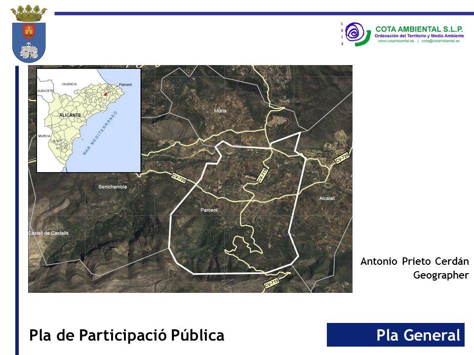 Pla GeneralPla de Participació Pública Antonio Prieto Cerdán Geographer