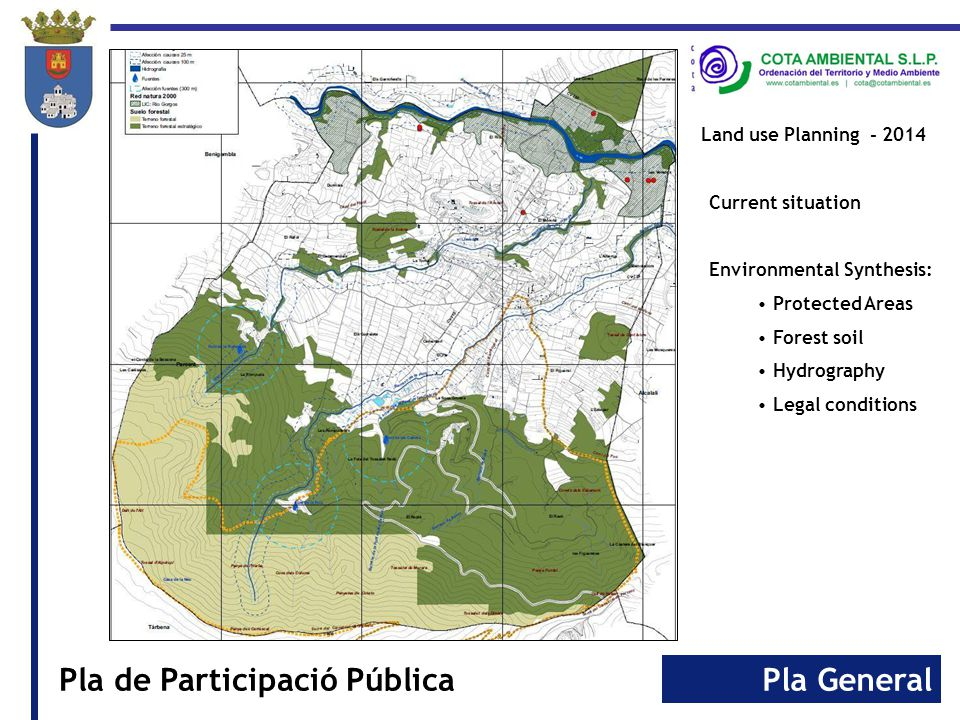 Pla GeneralPla de Participació Pública Land use Planning - 2014 Current situation Landscape: Units Resources
