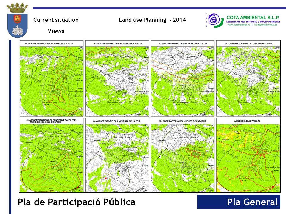 Pla GeneralPla de Participació Pública Land use Planning - 2014Current situation Views