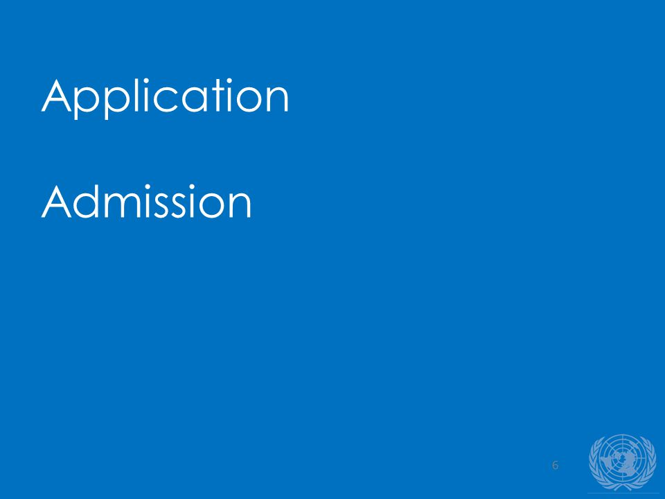 6 Application Admission