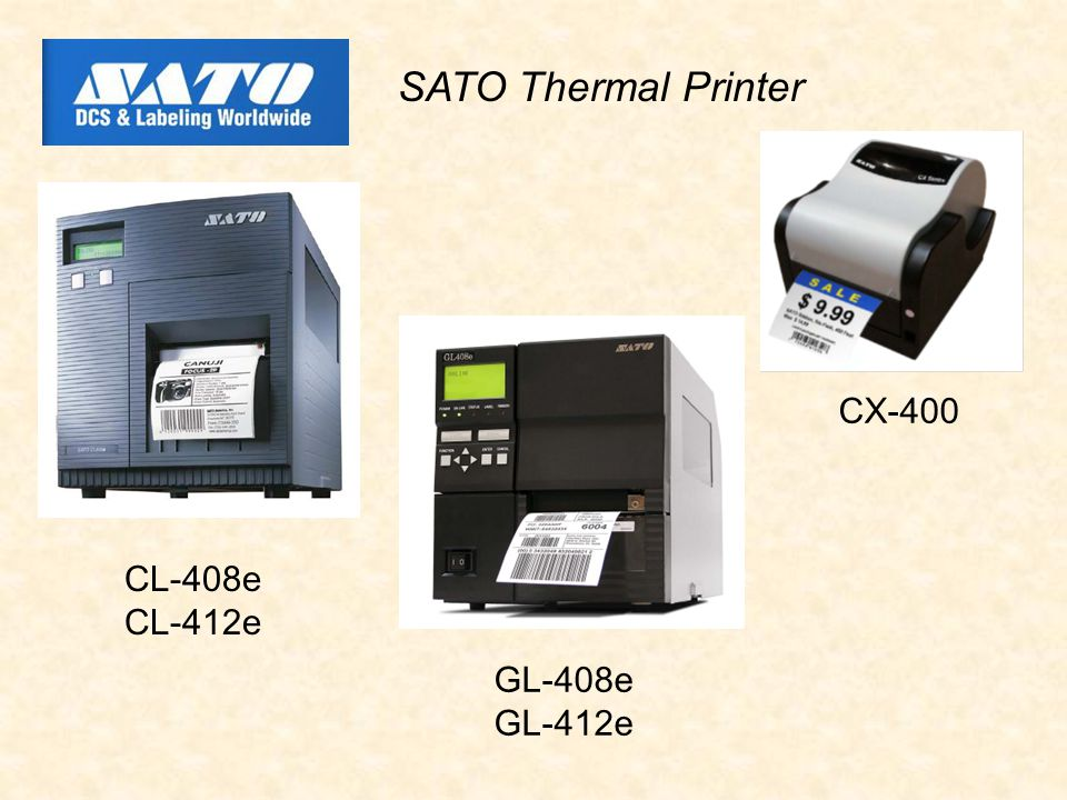 CL-408e CL-412e SATO Thermal Printer CX-400 GL-408e GL-412e