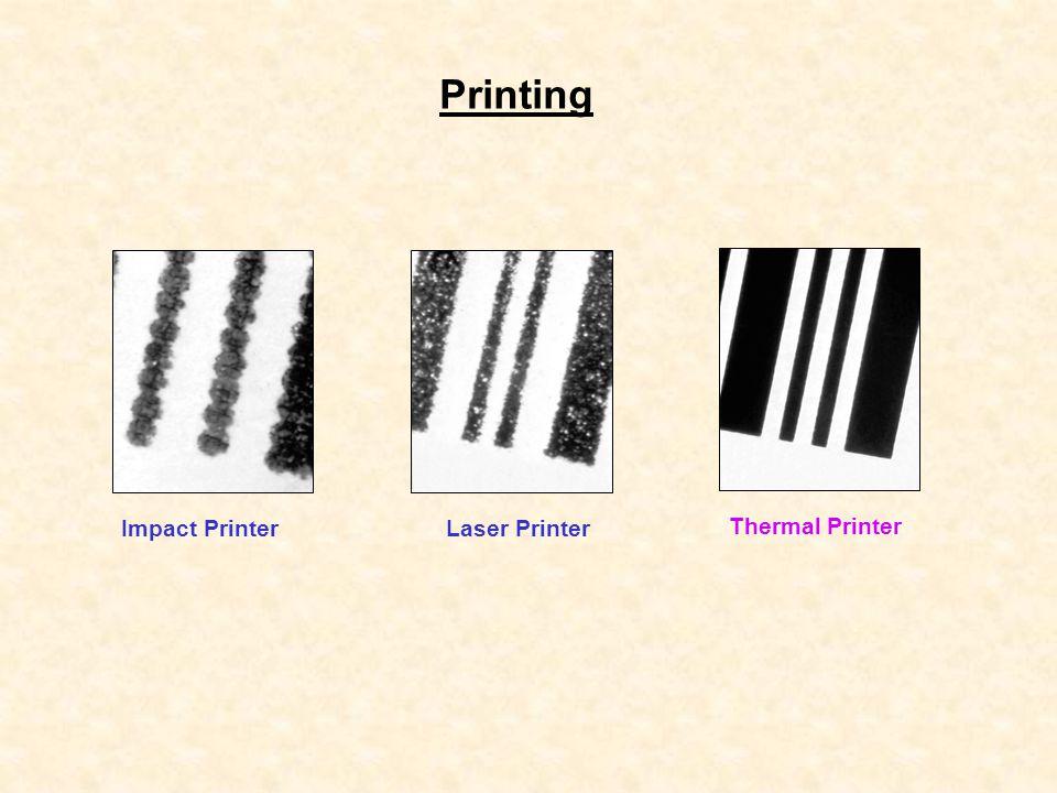 Thermal Printing PRINTING PROCESS Media Ribbon Print head Thermal Transfer : การพิมพ์โดยใช้ความ ร้อนผ่าน Ribbon Direct Thermal : การพิมพ์แบบใช้ความ ร้อนโดยตรงไปสู่ Label