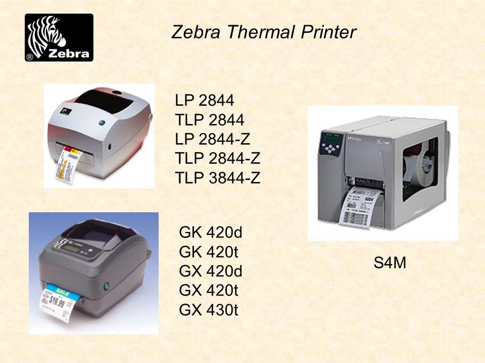 LP 2844 TLP 2844 LP 2844-Z TLP 2844-Z TLP 3844-Z Zebra Thermal Printer S4M GK 420d GK 420t GX 420d GX 420t GX 430t