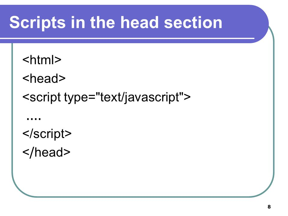 8 Scripts in the head section....