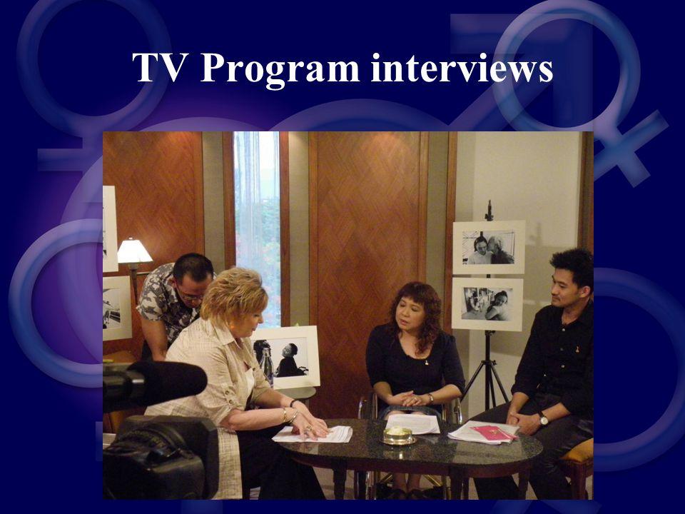 TV Program interviews