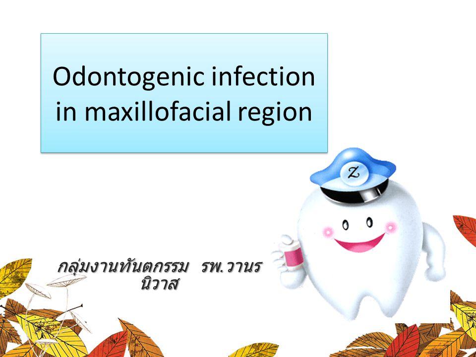 กลุ่มงานทันตกรรม รพ. วานร นิวาส Odontogenic infection in maxillofacial region