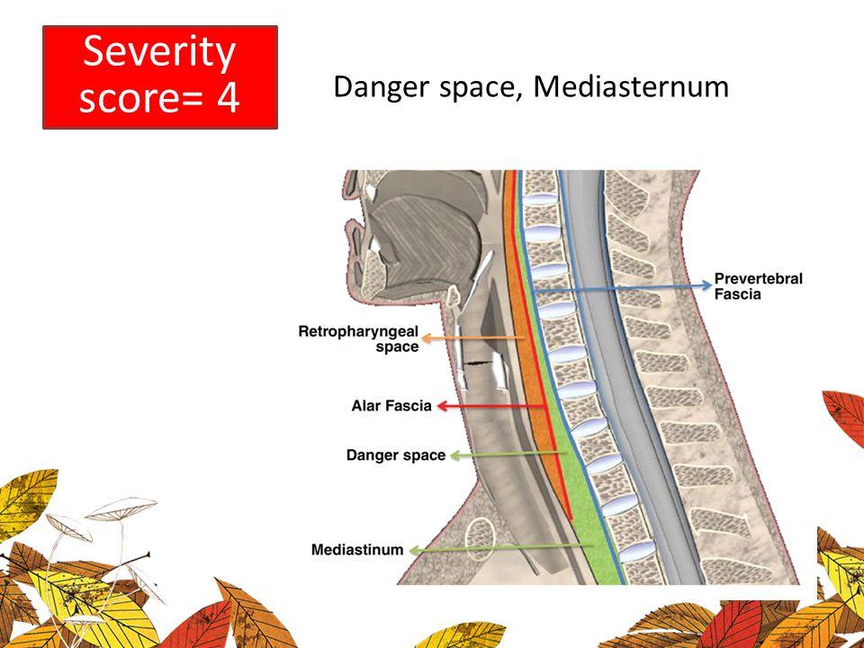 Danger space, Mediasternum Severity score= 4