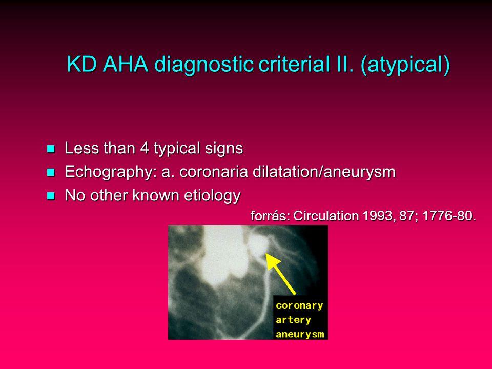 KD AHA diagnostic criteriaI II.