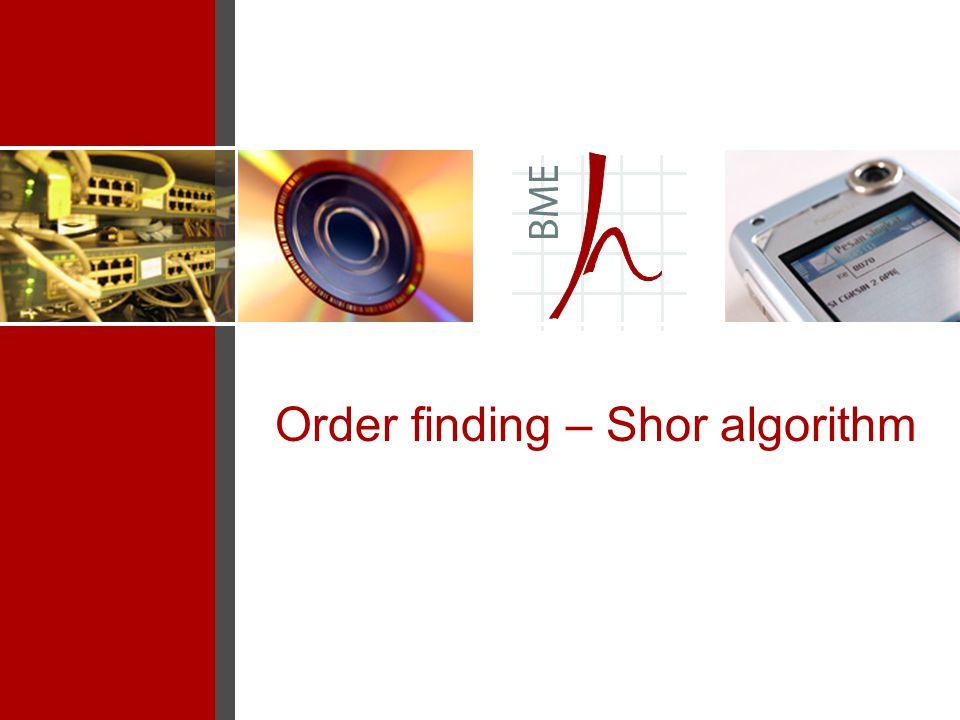 Order finding – Shor algorithm