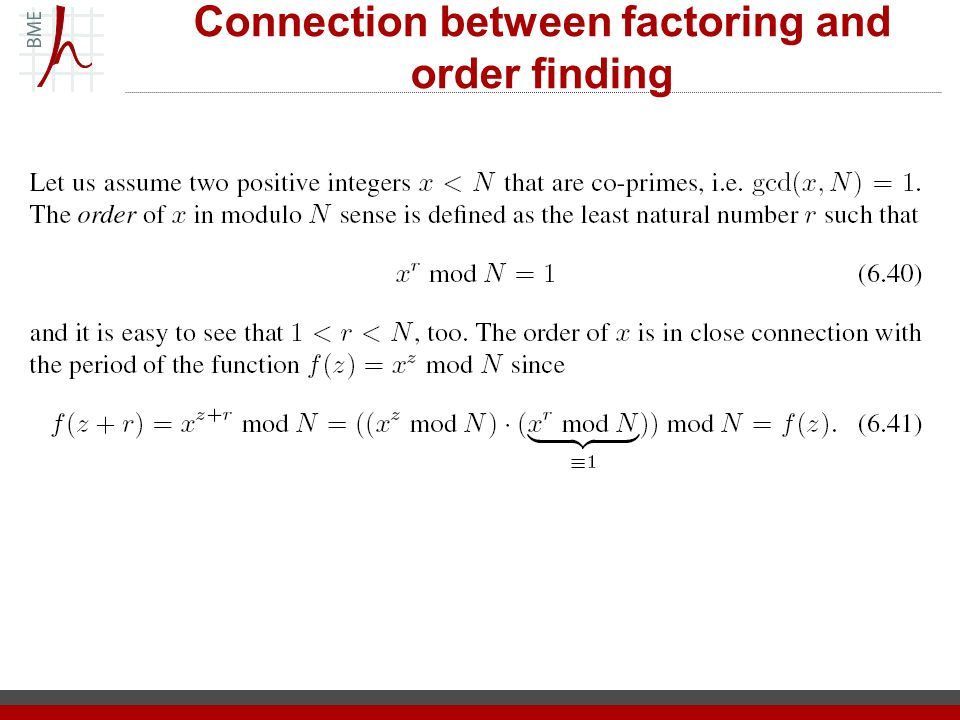 Connection between factoring and order finding
