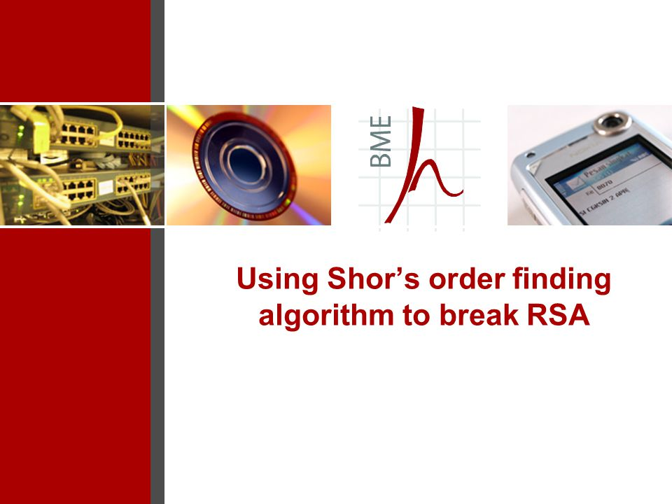 Using Shor's order finding algorithm to break RSA