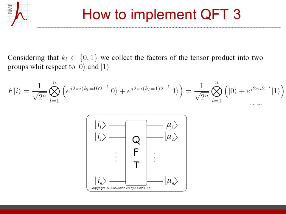 Practical case IQFT will work not correctly