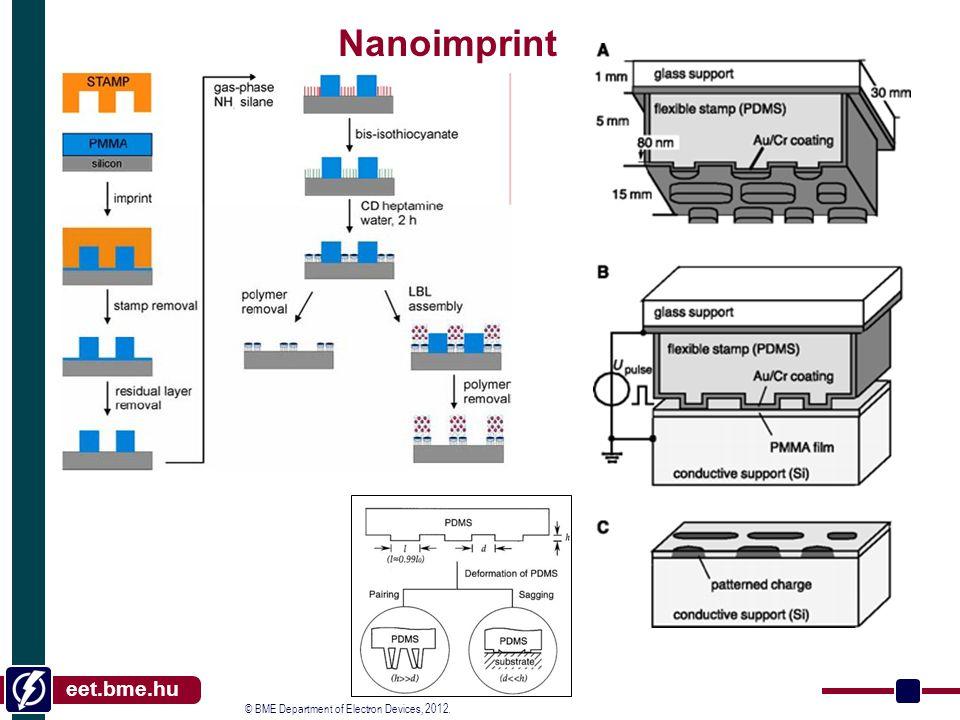 © BME Department of Electron Devices, 2012. eet.bme.hu Nanoimprint