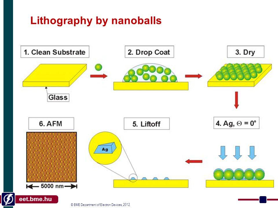 © BME Department of Electron Devices, 2012. eet.bme.hu Nanoimprint February 6, 2013