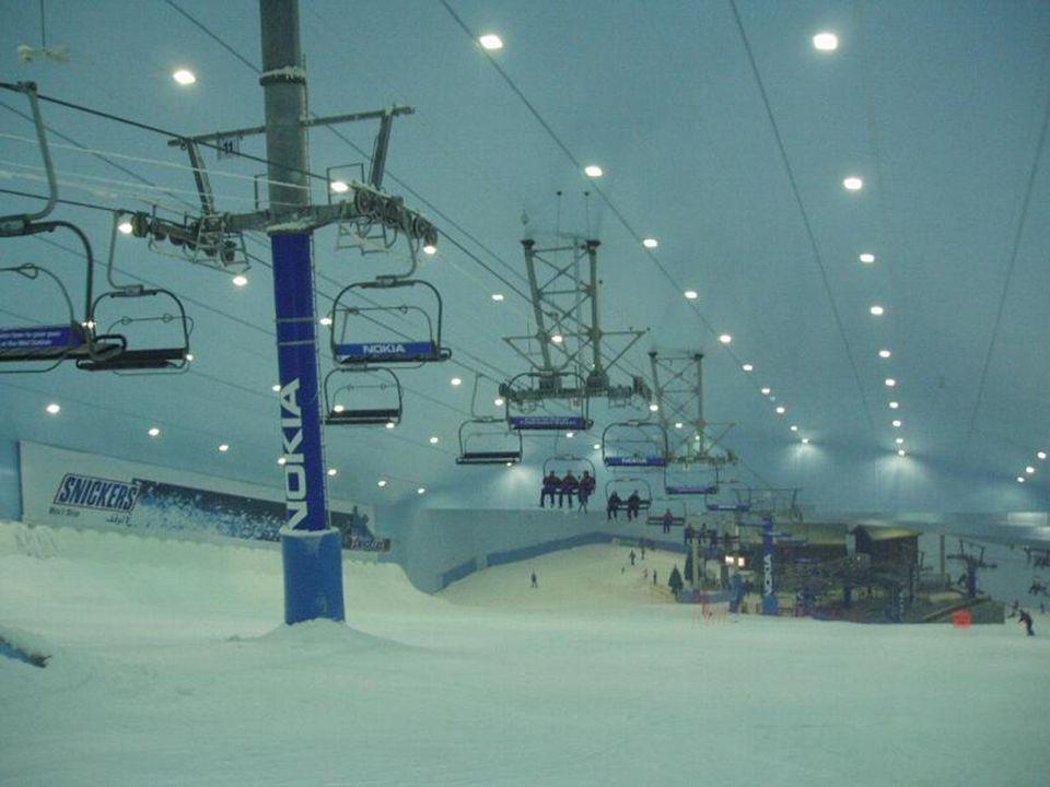 Snow Skiing inside a Shopping Center