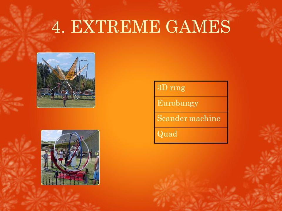 4. EXTREME GAMES 3D ring Eurobungy Scander machine Quad